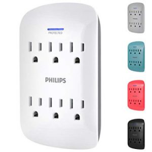 Best Surge Protector for Business Travelers: Philips 6-Outlet Surge Protector