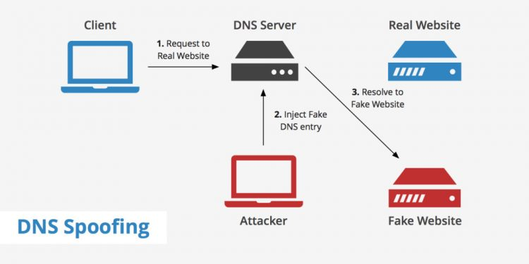 What is DNS spoofing