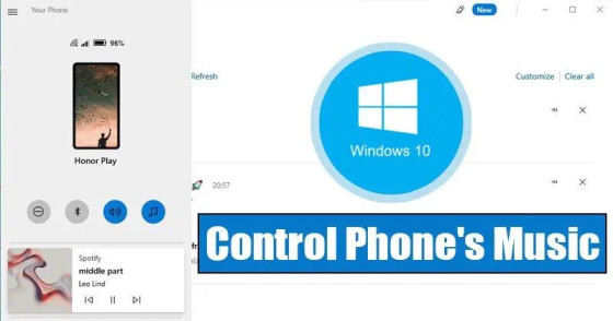 How to Control Your Phone's Music From Windows 10 PC